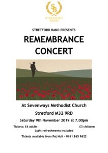 Remembrance Concert poster 2018